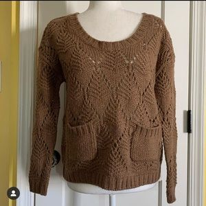 Anthropologie Willow & Clay lacy sweater size S